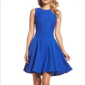 Eliza J Cobalt Blue Fit and Flare Dress